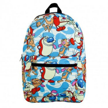 Nickelodeon Ren And Stimpy Sublimated Backpack Blue
