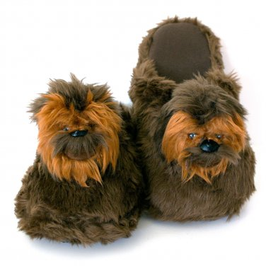 Star Wars Chewbacca Plush Slippers Brown