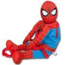 Spiderman Marvel Plush Zipper Novelty Bag Backpack Buddy