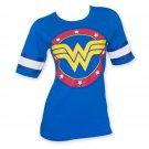 Wonder Woman Hockey Style Women's Tee Shirt Blue