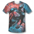 Superman Sun Sublimation T-Shirt Red