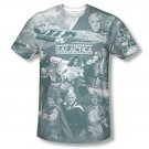 Battlestar Galactica Battle Has Begun Sublimation T-Shirt Gray