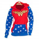 Wonder Woman Gold Logo Costume Hoodie Red
