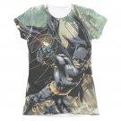 Batman Catch Sublimation Juniors Tee Shirt Black
