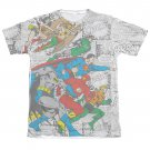Justice League Face Off Sublimation T-Shirt White