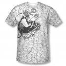 Popeye Many Faces Sublimation T-Shirt White