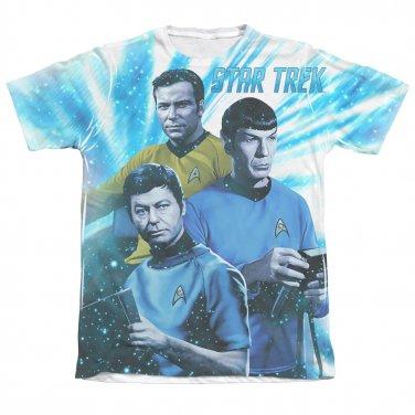 Star Trek TOS Space Shadows Sublimation T-Shirt Blue