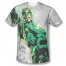 Green Lantern Light Em Up Sublimation Tee Shirt White