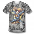 Superman Break On Through Sublimation T-Shirt Gray