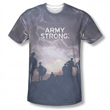 US Army Up The Hill Sublimation T-Shirt Gray