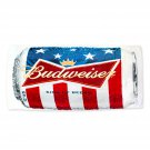 Budweiser Beer Can Beach Towel White
