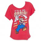 Nintendo It's Me Super Mario Bros. Loose Fit Women's T-Shirt Red