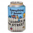 Sesame Street Everything I Know Learned On The Street Koozie Blue