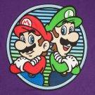 Nintendo Men's Mario And Luigi Tee Shirt Purple