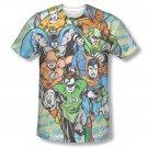 Justice League Men's Sublimation Follow The Leader Tee Shirt White