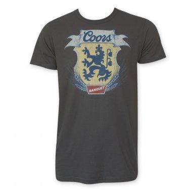 Coors Men's Lion Wheat Banquet T-Shirt Gray