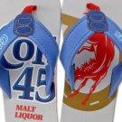 Colt 45 Mens Beer Sandals Beach Pool Flip Flops Gray