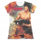 Rambo First Blood Become War Sublimation Juniors T-Shirt White
