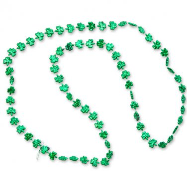 Shamrock Novelty Beads Green