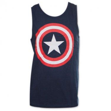 Captain America Logo Tank Top Shirt Blue