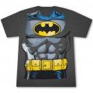 Batman Classic Retro Costume Grey Graphic Tee Shirt Gray