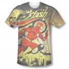 The Flash Passing Through Sublimation T-Shirt Yellow