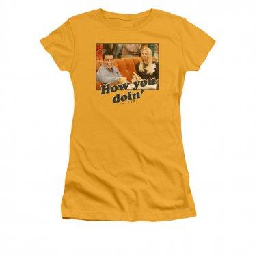 Friends Juniors How You Doin' Tee Shirt Yellow