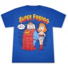 Family Guy Super Friends With Benefits Black Graphic TShirt Blue