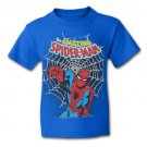 Classic Amazing Spider-Man Boys Youth T Shirt Blue