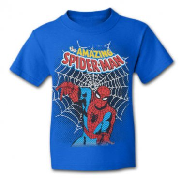 Classic Amazing Spider-Man Boys Youth T Shirt Blue