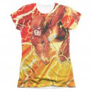 The Flash Lightning Dash Sublimation Juniors T-Shirt White
