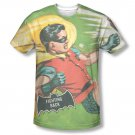 Batman TV Fighting Back Sublimation T-Shirt White