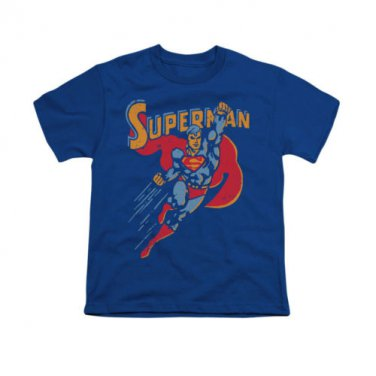 Superman Super Knockout Youth Unisex T-Shirt Blue