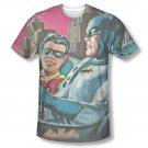 Batman TV Bat Signal Sublimation T-Shirt White