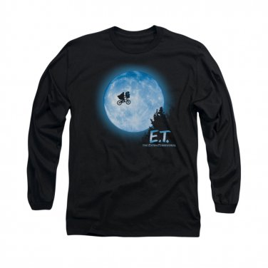 E.T. The Extra Terrestrial Moon Long Sleeve T-Shirt Black