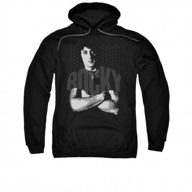 Rocky Chest Logo Pullover Hoodie Black