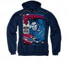 Superman Action Packed Comic Navy Pullover Hoodie Blue