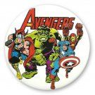 Avengers Group Large Button White