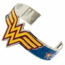 Wonder Woman Logo Cuff Bracelet Metallic