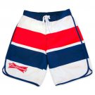 Budweiser Red And Blue Board Shorts White