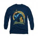 Batman Nightwing Moon Long Sleeve T-Shirt Blue