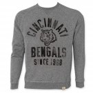 NFL Cincinnati Bengals Men's Since 1968 Junk Food Crewneck Sweatshirt Gray