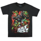 TMNT Beat This Youth Boys 8-20 Tee Shirt Black