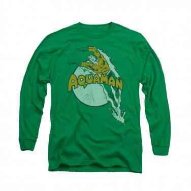 Aquaman Splash Long Sleeve T-Shirt Green
