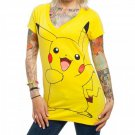 Pokemon Pikachu Women's V-Neck Tee Yellow