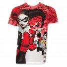 Harley Quinn Sublimated Batman Voodoo Doll Tee Shirt Red