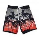Budweiser Men's Palm Tree Board Shorts Black