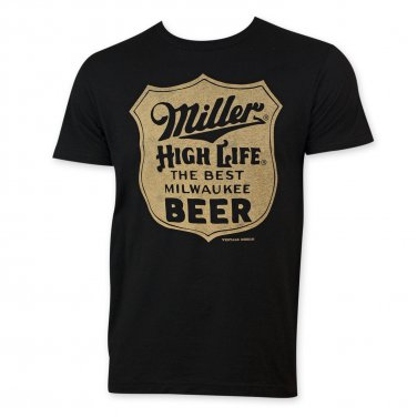 Miller High Life Men's Best Beer T-Shirt Black