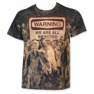 Walking Dead Sublimated We Are All Infected Tee Shirt Brown