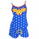 Wonder Woman Star Print Women's Romper Blue
